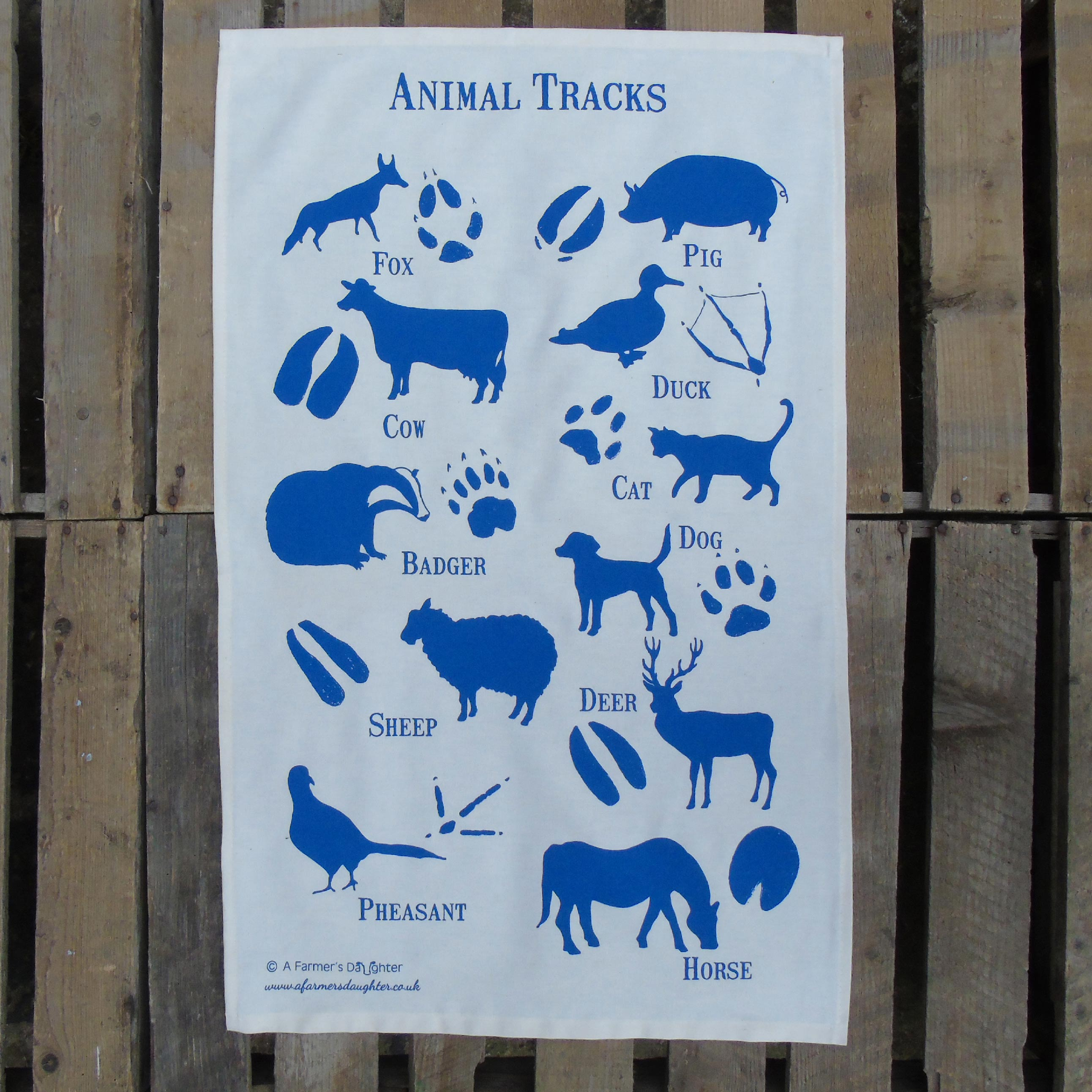 animal-tracks-tea-towel