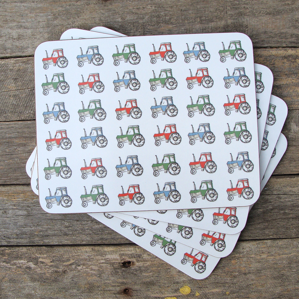 tractors placemats set_web