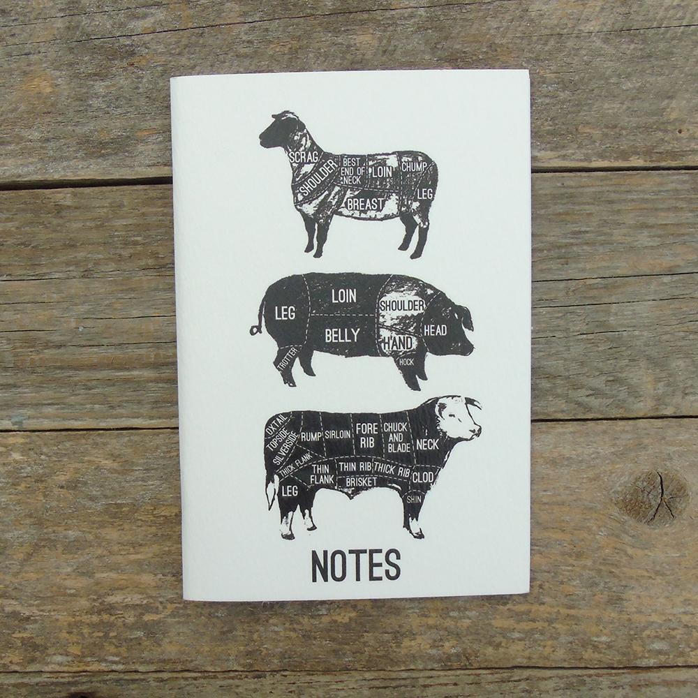 A6 white meat cuts notebook web
