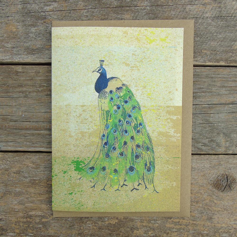 Peacock card SP34 web
