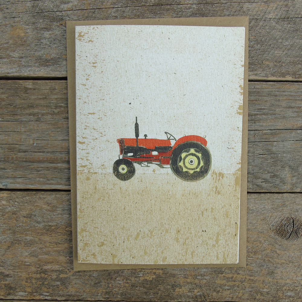 SP16 speckled Tractor card web