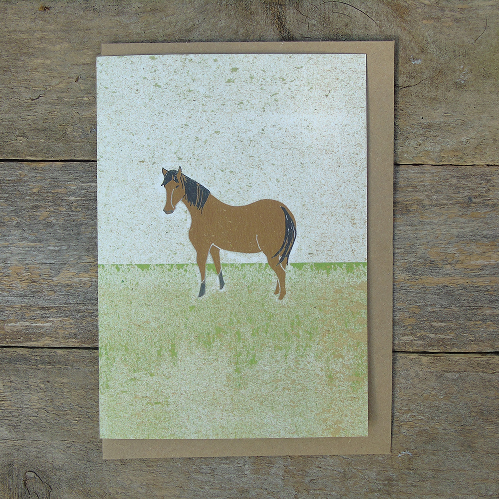 SP40 speckled Horse card web