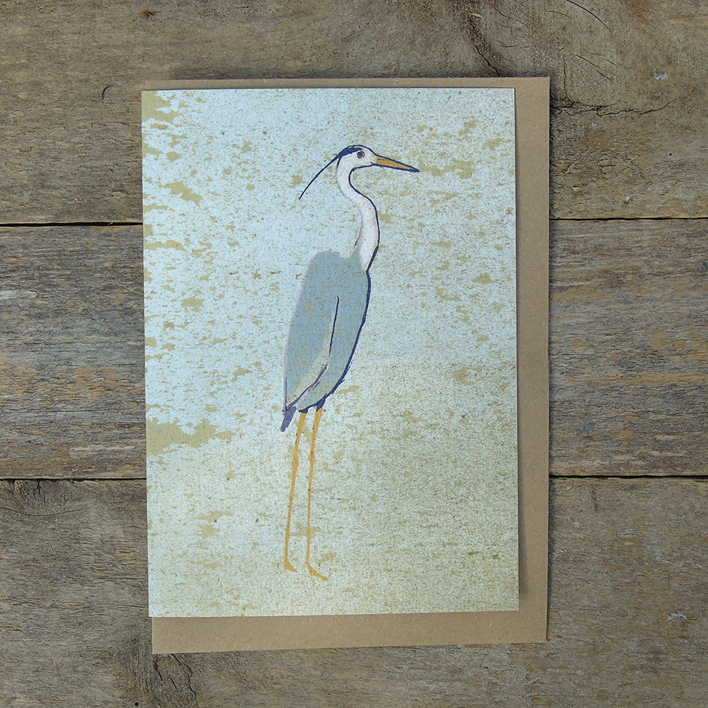 SP43 speckled Heron card web