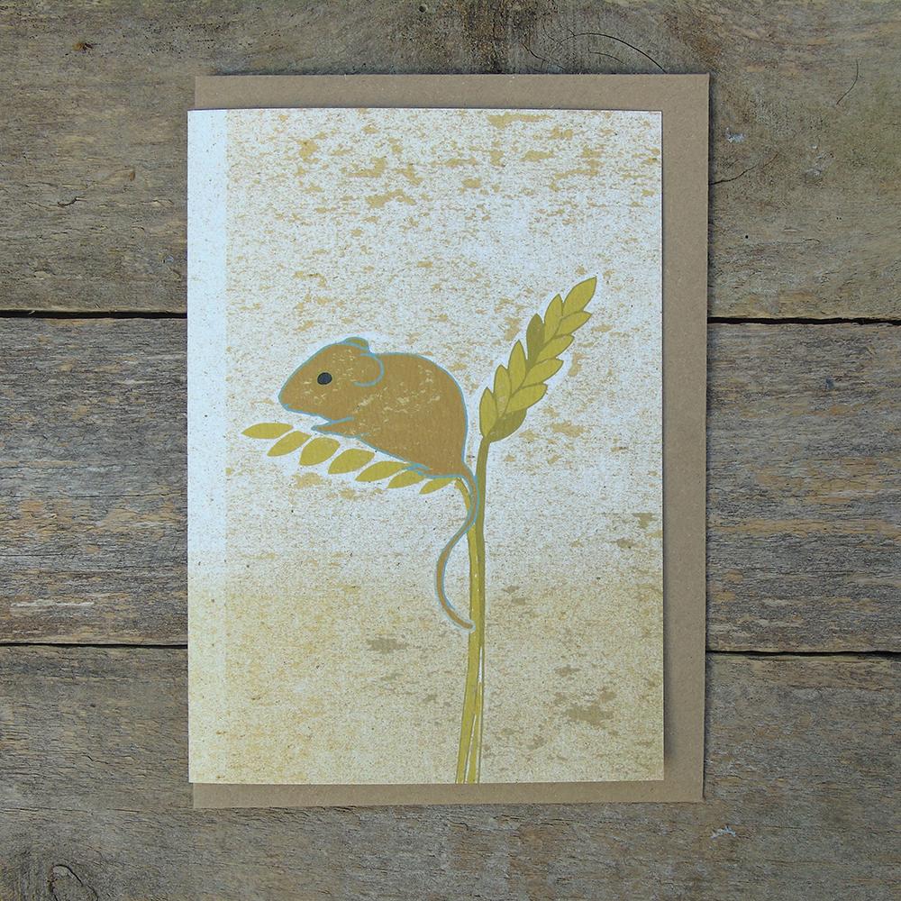 SP45 speckled Harvest mouse card