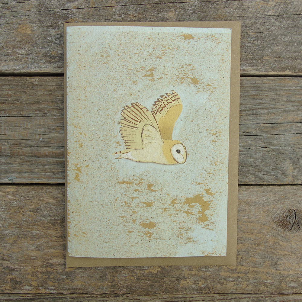 Speckled Barn owl card SP26 web