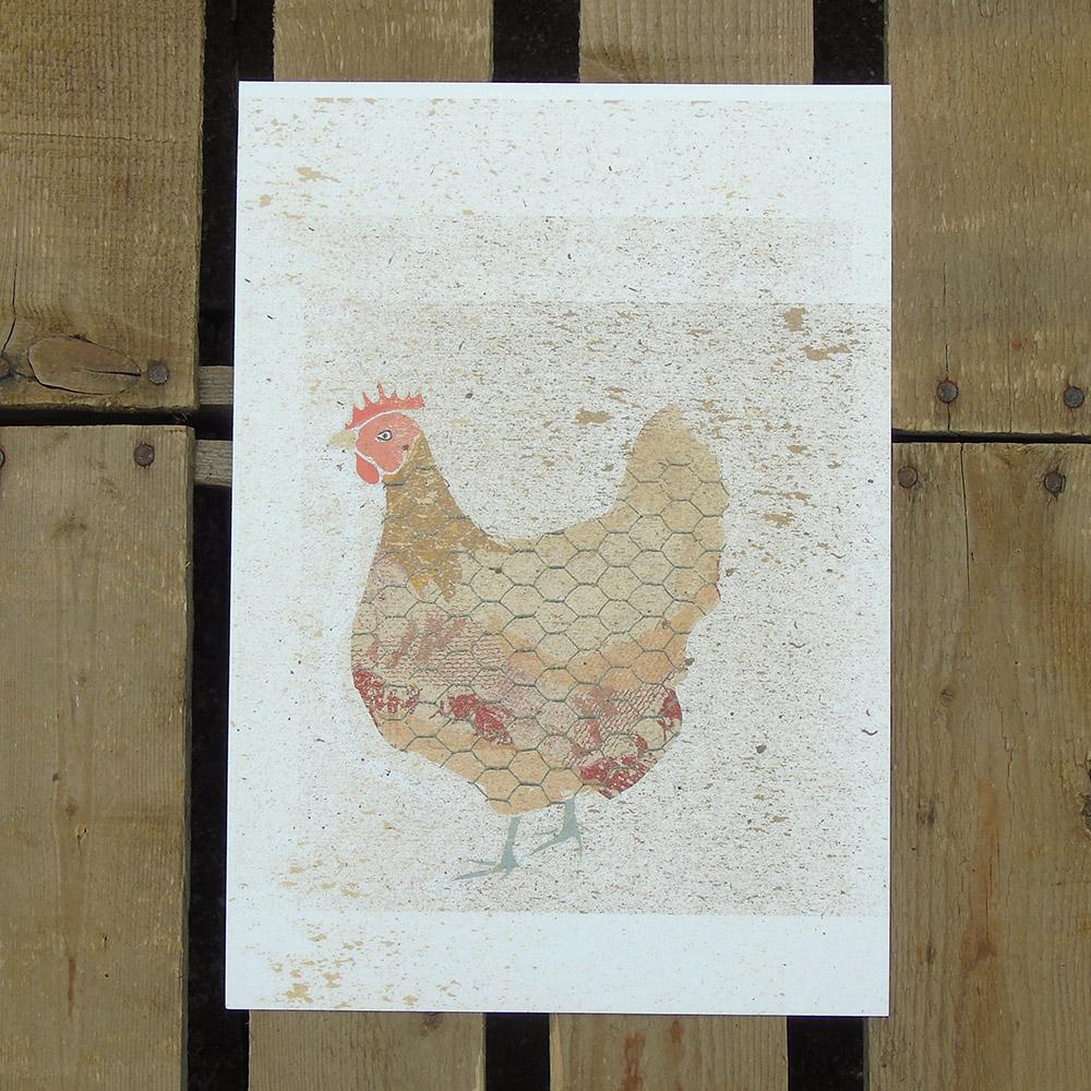 a4 hen print