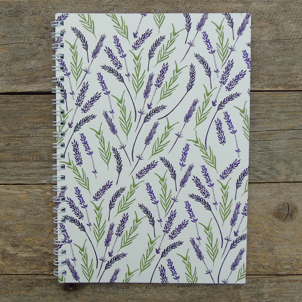 lavender A5 notebook web