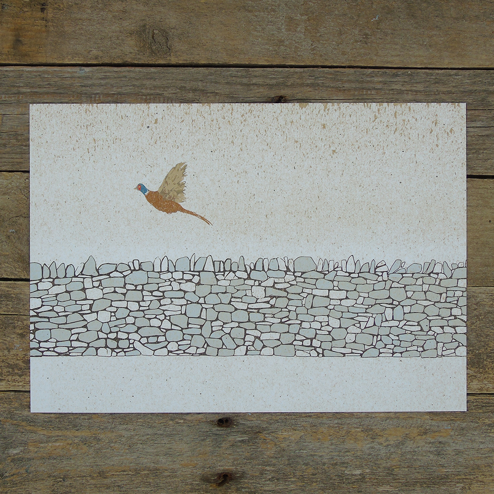 flying pheasant print
