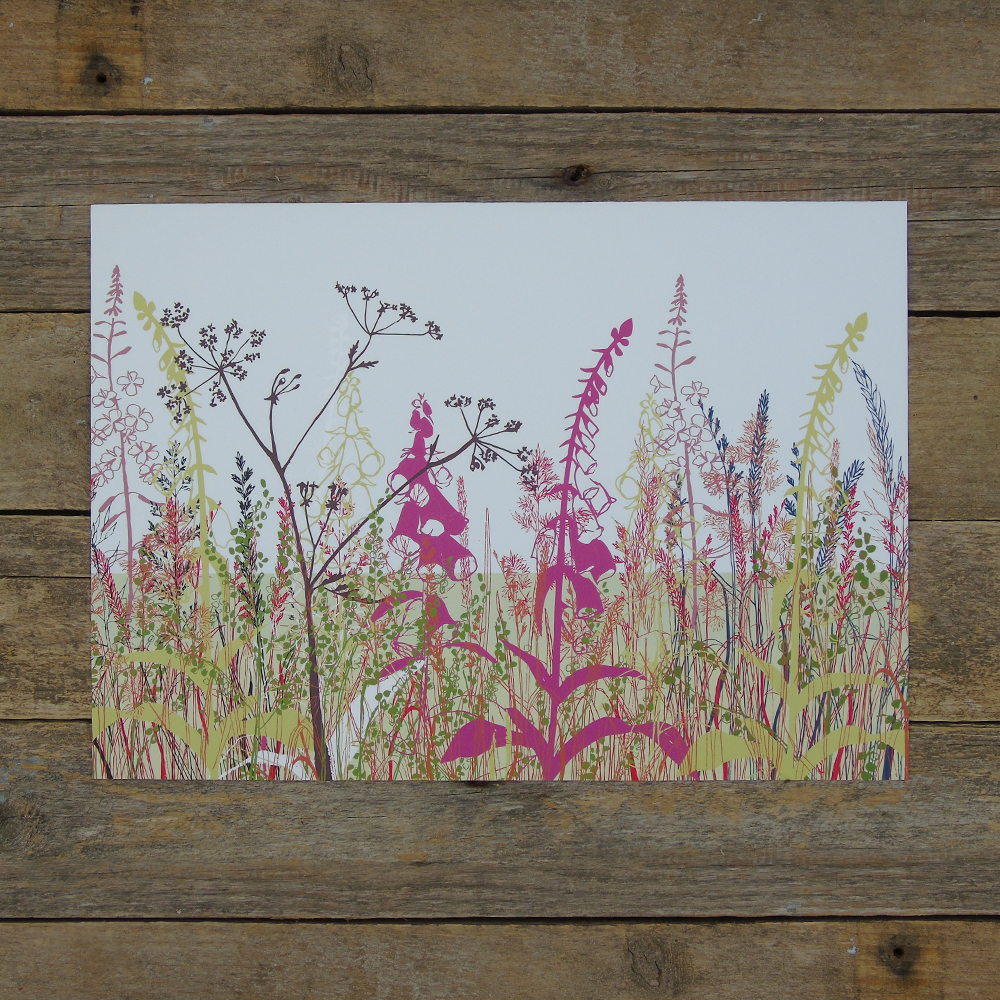 fox glove meadow print