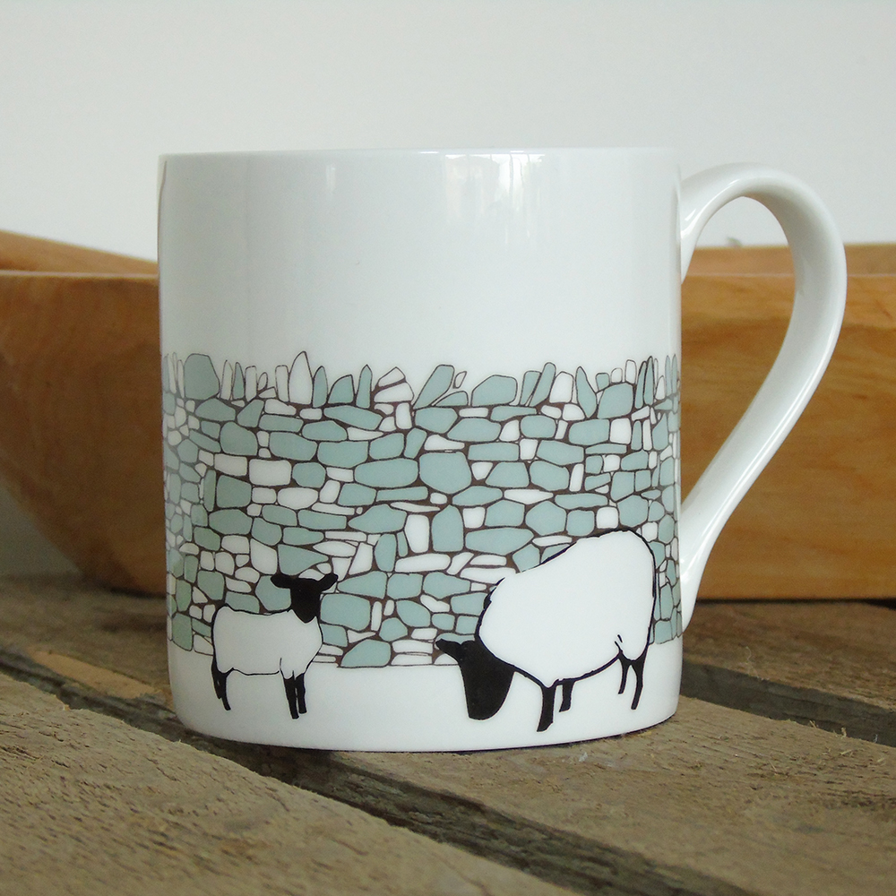 drystone wall sheep mug