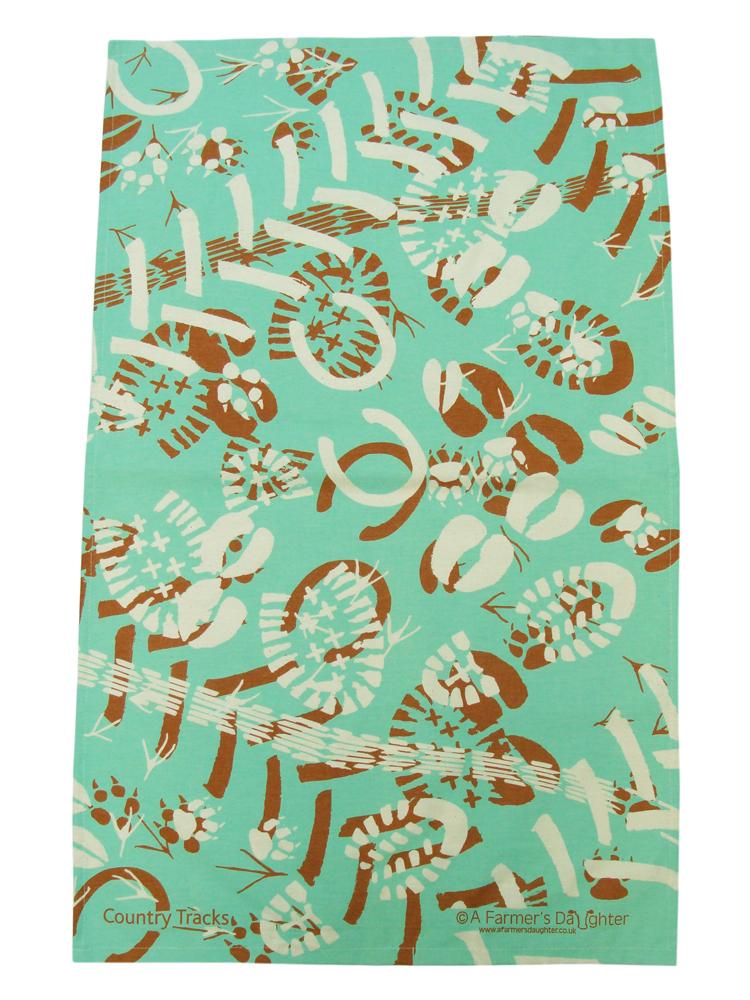 Amazon country tracks tea towel