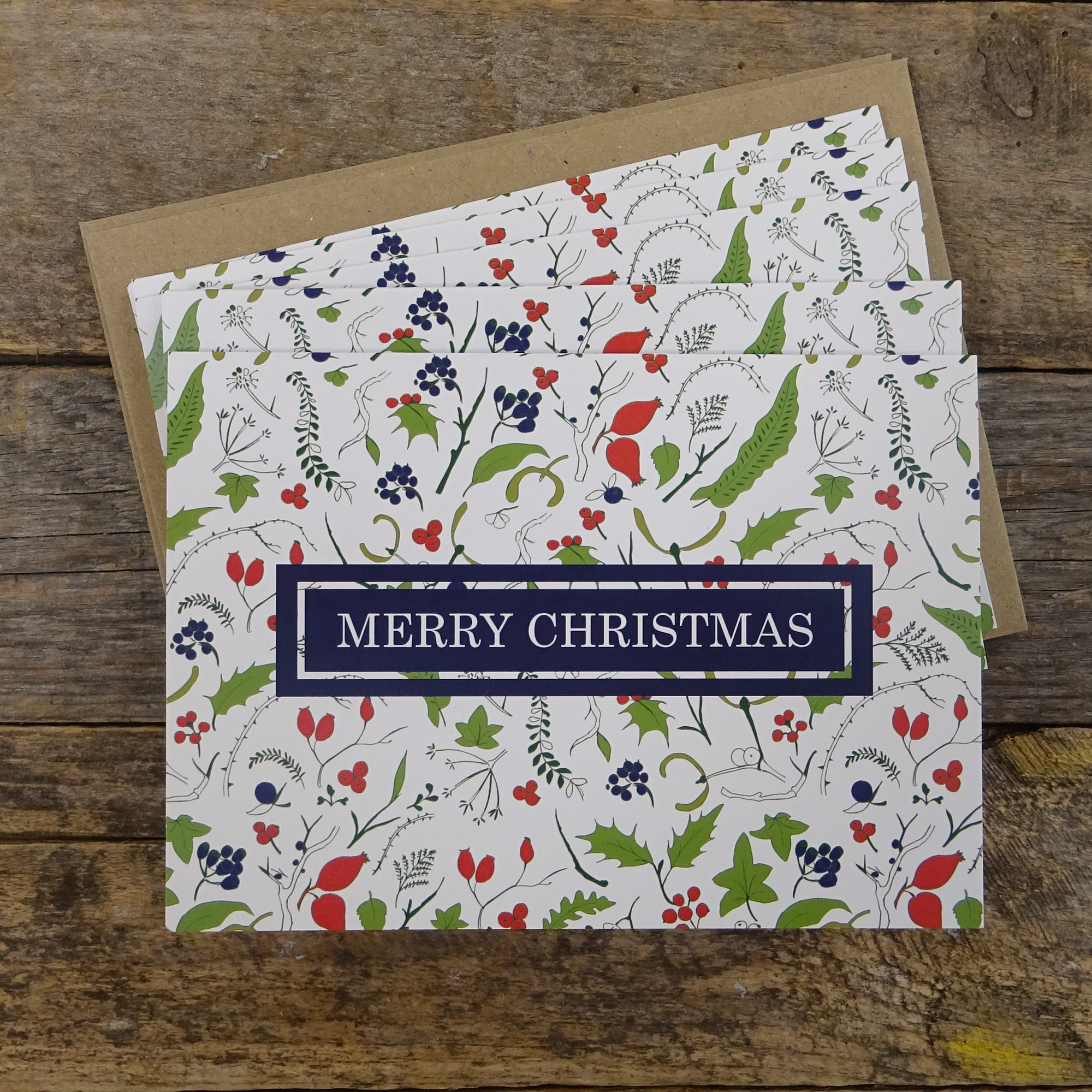 Christmas Winter pattern cards