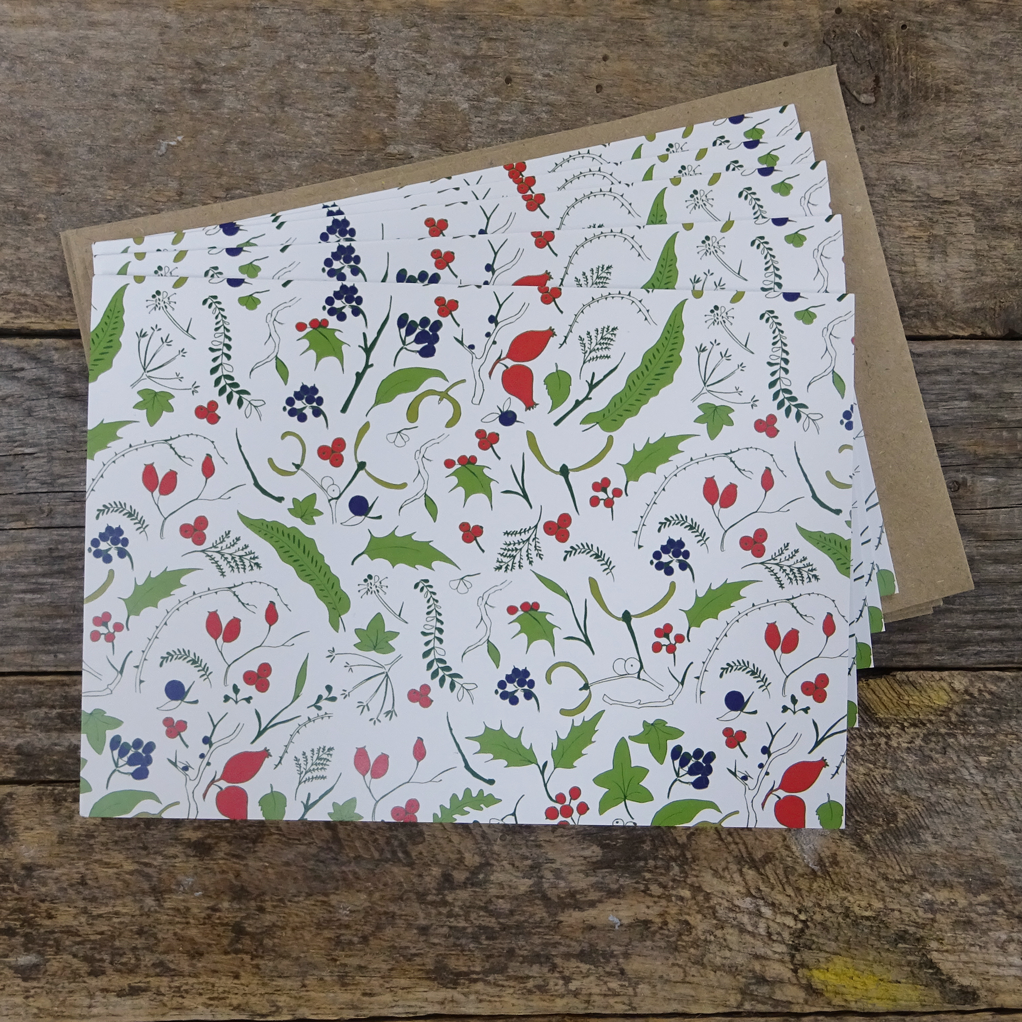 Winter Pattern Cards