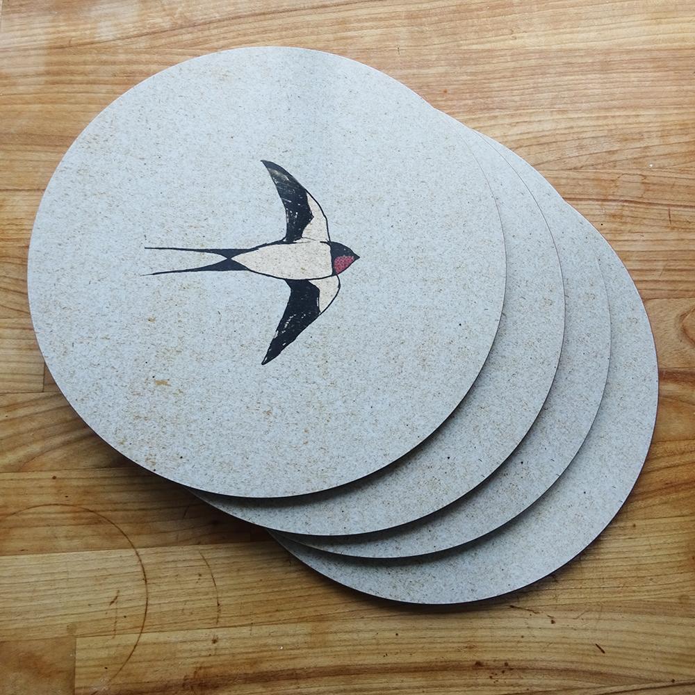 placemat set swallows web